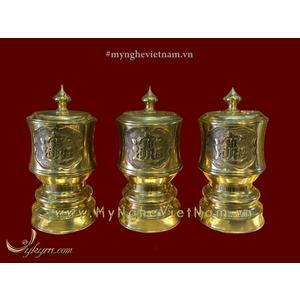 Bộ đài nước bày bàn thờ gia tiên đk 10cm và 8cm