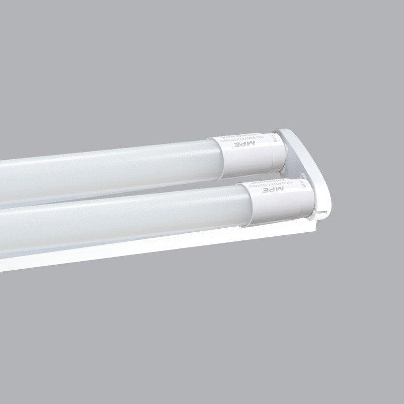 Bộ đèn led tube thủy tinh T8 bóng đôi MPE 60cm
