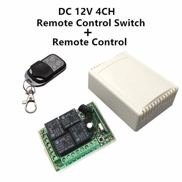 Bộ điều khiển từ xa 4 kênh nguồn 12v