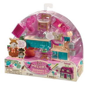 Bộ đồ chơi búp bê Li'lWoodzeez giá rẻ mô hình nhà bếp và dọn dẹp nhà cửa