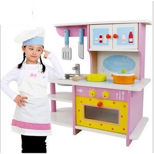 Bộ đồ chơi gỗ mô phỏng nhà bếp màu hồng MG689