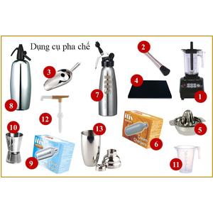 Bộ dụng cụ pha chế dành cho Quán Cafe