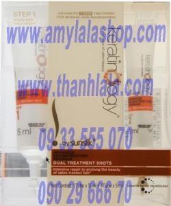 Bộ kem ủ và huyết thanh phục hồi nhanh tóc hư tổn Keratinology Dual Treatment Shots - 0933555070 -