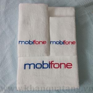Bộ khăn quà tặng kèm sản phẩm Mobifone