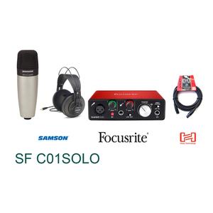 Bộ Kit thu âm Samson C01 Focusrite Solo (SF C01SOLO)