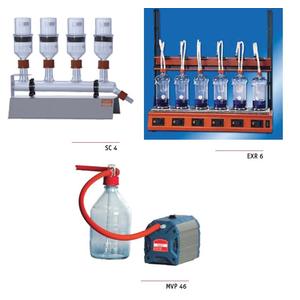 Bộ lọc xơ bằng thuỷ tinh Behrotest 6 chỗ theo tiêu chuẩn EN ISO6856