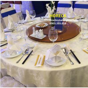 Bộ mâm xoay bàn ăn kính trà BMX21