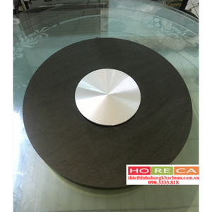 Bộ mặt bàn kính xoay inox xước đen 304 BMX16