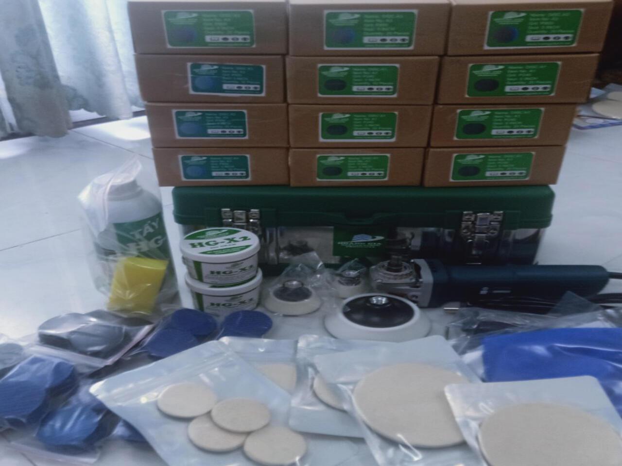 Bộ máy đánh bóng kính bị xước full BOX Bos M14 3 Cấp đĩa