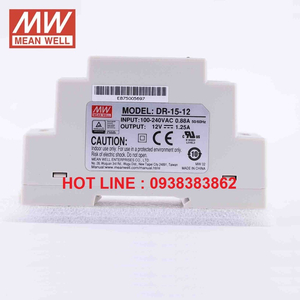Bộ nguồn Dinrail Meanwell DR-15-5, DR-15-12, DR-15-24, DR-15-15