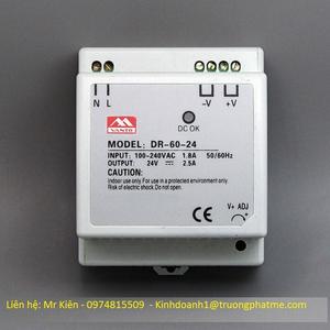 Bộ nguồn Din Rail 24VDC-60W-2,5A
