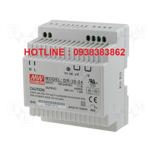 Bộ Nguồn Dinrail Meanwell DR-30-5, DR-30-12, DR-30-15, DR-30-24