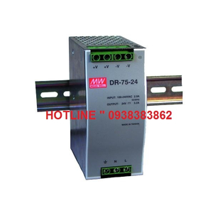 Bộ Nguồn Dinrail Meanwell DR-75-12, DR-75-24, DR-75-48