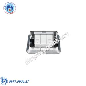 Bộ ổ cắm âm sàn gồm 2 ổ điện thoại - Model DU6933LT9-1