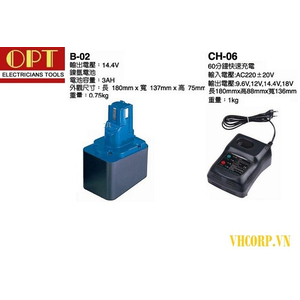 BỘ SẠC PIN OPT B-02 , CH-06