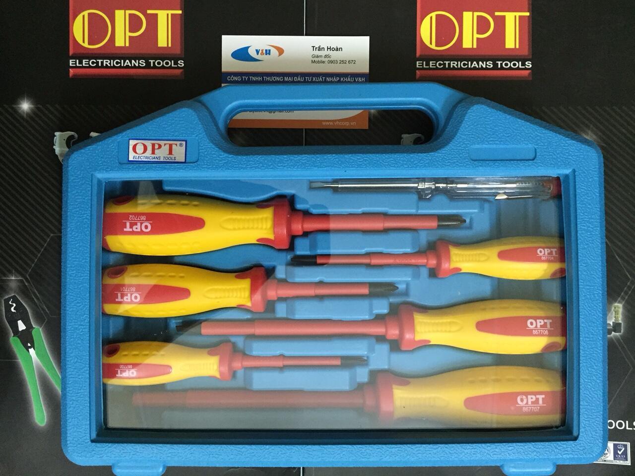 Bộ tô vít cách điện 1000V OPT SW-867-A7