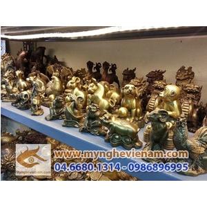 Bộ tượng 12 con giáp bằng đồng cỡ 10cm