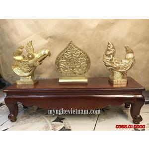 Bộ tượng lá đế đầu rồng lý đầu phượng trong hoàng thành Thăng Long