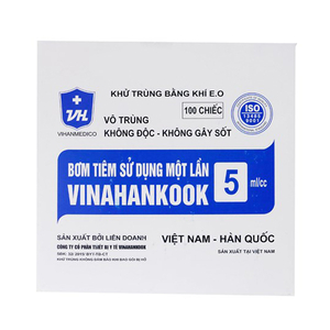 Bơm tiêm sử dụng 1 lần Vinahankook 5ml