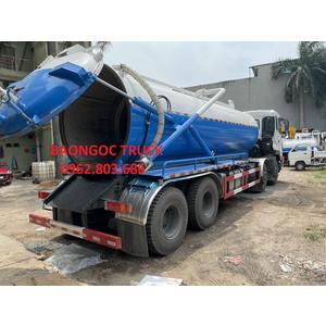 Bán xe hút chất thải dongfeng 4 chân chở 17 khối bồn inox 304