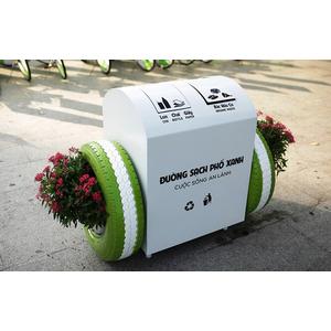 Bridgestone tặng 100 thùng rác thông minh tự nuôi cây cho TP.HCM