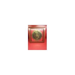 Tranh trống đồng gò nổi kích thước 30*30cm