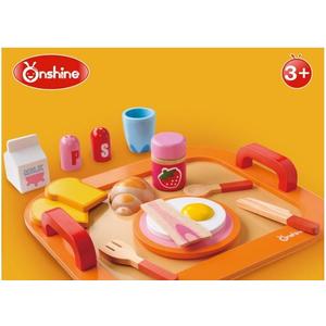 Bộ đồ chơi gỗ bữa sáng bánh mì trứng ốp la