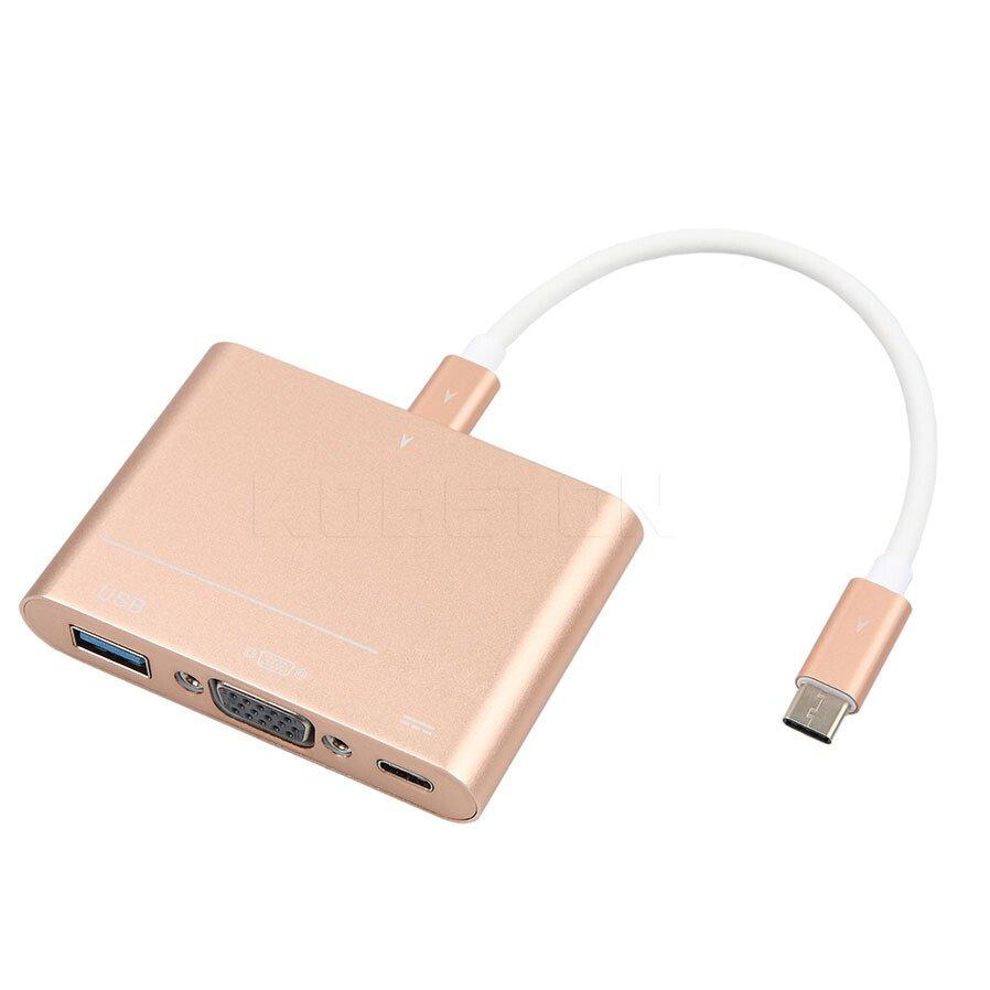 Đầu chuyển USB Type C ra VGA - Type C - USB tốc độ cao