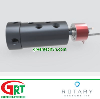 C016   4 Pass Threaded Shaft Union Combined with 5 Amp Slip Ring  Rotary System Vietnam