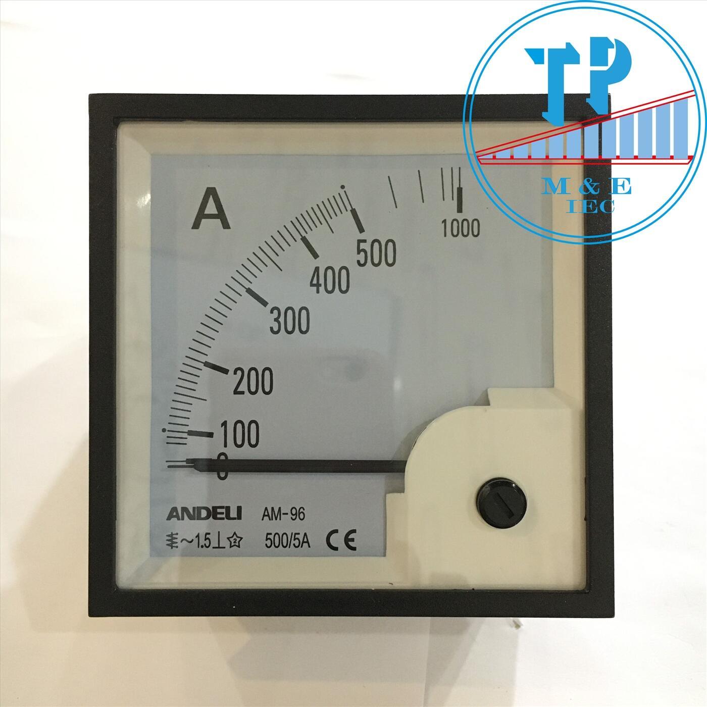 Đồng hồ Ampe 500/5A