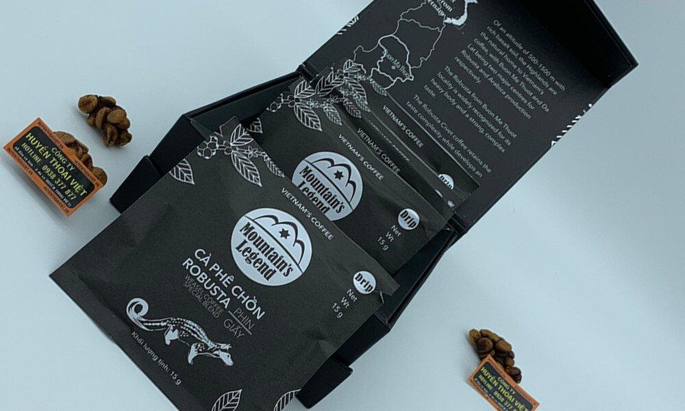 Cà phê Chồn Robusta túi Lọc