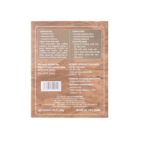 Cafe con sóc bột 50% Arabica - 50% Robusta( 500gr) - màu Chocolate