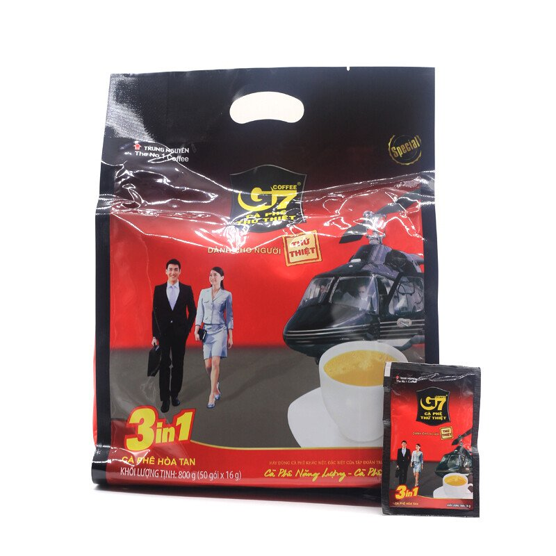 Cà phê sữa hòa tan G7 3in1 bịch 50 gói - 800gr