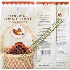 Cà phê hạt Con Sóc Robusta - 200gr