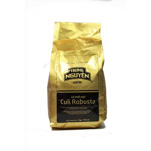 Cà phê hạt Culi Robusta Trung Nguyên hạt số 1 bịch 1kg