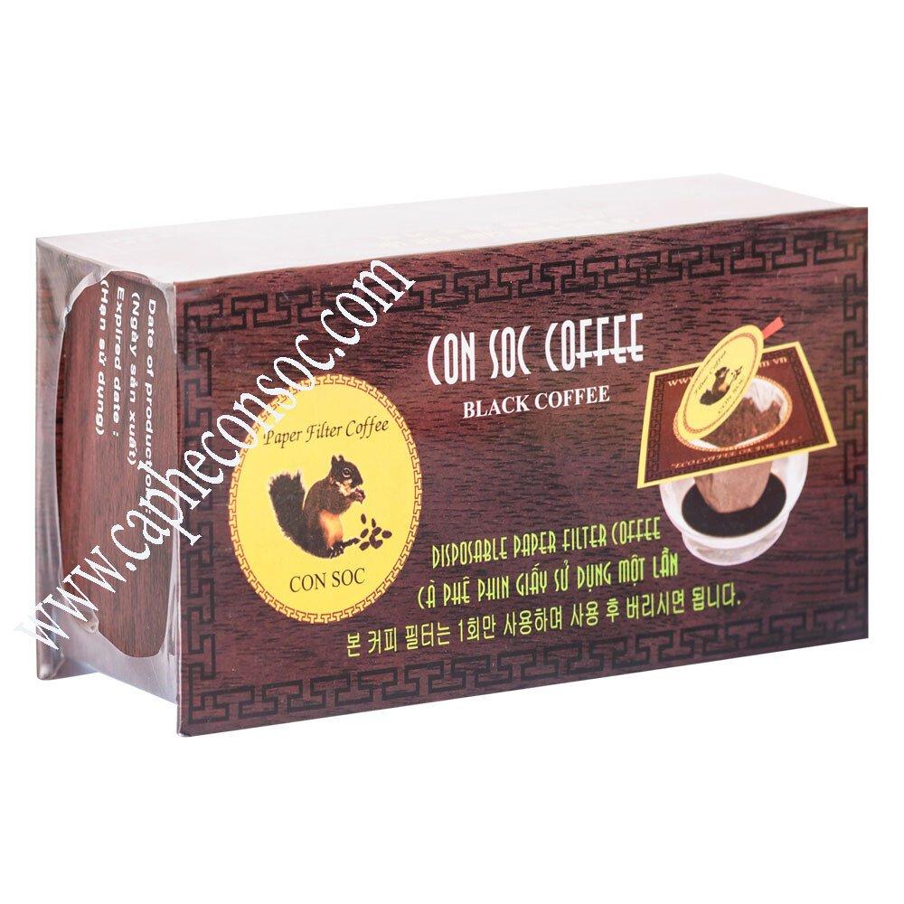 Cà phê Con Sóc phin lọc ĐƠN ĐEN