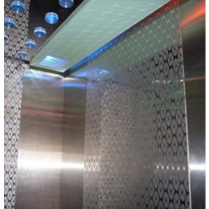 Cabin : Tấm giữa Inox Hoa Văn ( TT-CW004 ), xen Inox sọc nhuyễn 2 bên