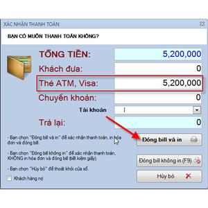 Các hình thức thanh toán tiền mua hàng trong phần mềm bán hàng V POS