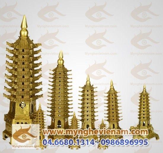 Các loại tháp văn xương bằng đồng phong thủy