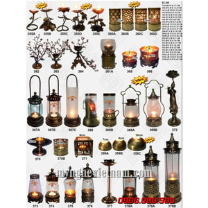 Các mẫu đèn dầu thờ cúng và đèn trang trí bằng đồng gò cao cấp