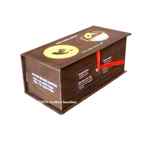 Cafe con Sóc Fin Giấy-Arabica-hương Hazelnut( 100gr)