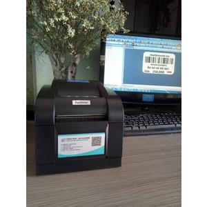 Cài đặt máy in tem mã vạch Xprinter XP 350B cho khách qua online từ xa