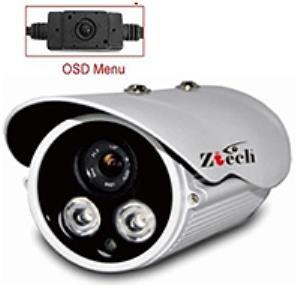 Camera ZT-FZ7516E, 700TV Lines, 1/3 Sony CCD-OSD