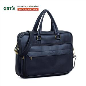 Cặp da nam công sở CNT HQ17 thời trang cao cấp Đen