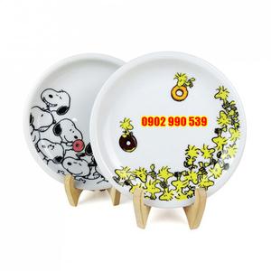 Cặp Dĩa Sứ Snoopy