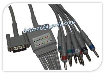 Cáp điện tim HP M3702A/M3703A 10-lead