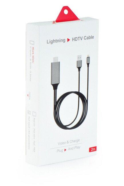 Lightning to HDTV Cable 2m || Cáp kết nối Lightning Iphone Ra out HDMI. TIVI . MÀN Hình Máy chiếu
