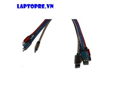 Cáp ngắn Apple lightning Micro USB 2.0 (đen/đỏ/xanh/gold)