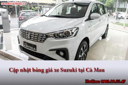 Cập nhật bảng giá xe Suzuki tại Cà Mau
