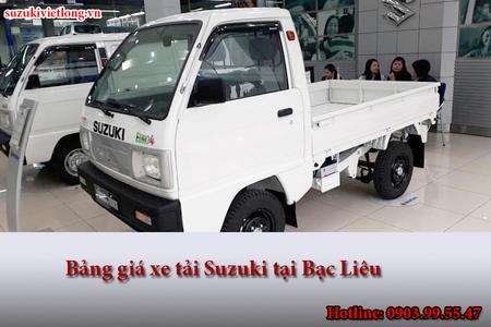 Cập nhật bảng giá xe tải Suzuki tại Bạc Liêu